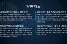2017年中国保险科技投融资报告