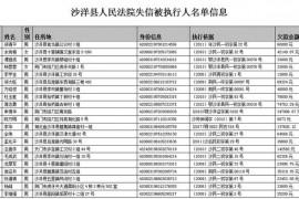 荆门又曝光一批失信黑名单 89年小伙欠款1399万