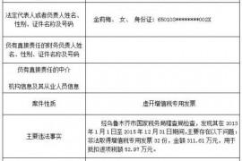 2017年8月新疆国税系统重大税收违法案(附名录)
