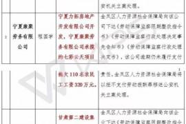 宁夏公布农民工欠薪失信15家建筑企业(附名单)